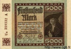 5000 Mark ALLEMAGNE  1922 P.081b SUP