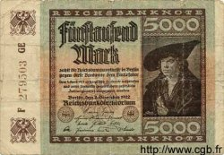 5000 Mark ALLEMAGNE  1922 P.081d B