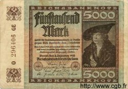 5000 Mark ALLEMAGNE  1922 P.081d TB