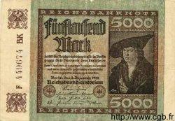 5000 Mark ALLEMAGNE  1922 P.081d TTB