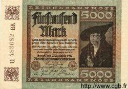 5000 Mark ALLEMAGNE  1922 P.081d SPL+