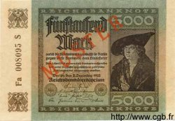 5000 Mark ALLEMAGNE  1922 P.081es pr.NEUF