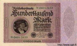 100000 Mark ALLEMAGNE  1923 P.083a SPL+