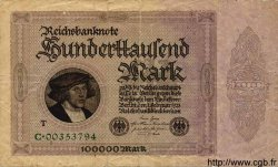 100000 Mark ALLEMAGNE  1923 P.083c B