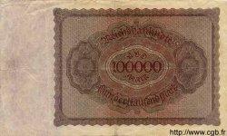 100000 Mark ALLEMAGNE  1923 P.083c pr.TTB