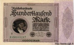 100000 Mark ALLEMAGNE  1923 P.083c SPL