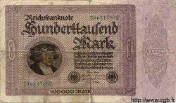 100000 Mark ALLEMAGNE  1923 P.083var B