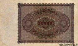 100000 Mark ALLEMAGNE  1923 P.083var TB