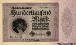 100000 Mark ALLEMAGNE  1923 P.083var pr.SUP