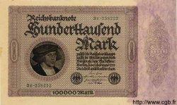 100000 Mark ALLEMAGNE  1923 P.083var SPL