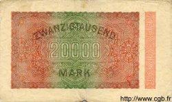 20000 Mark ALLEMAGNE  1923 P.085a B+