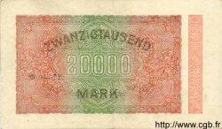 20000 Mark ALLEMAGNE  1923 P.085a TTB+