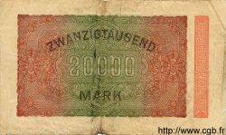 20000 Mark ALLEMAGNE  1923 P.085b B
