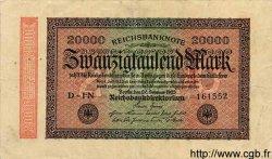 20000 Mark ALLEMAGNE  1923 P.085b TB
