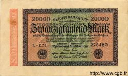 20000 Mark ALLEMAGNE  1923 P.085b SUP