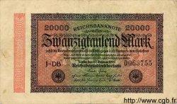 20000 Mark ALLEMAGNE  1923 P.085b TTB
