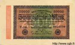 20000 Mark ALLEMAGNE  1923 P.085b TTB à SUP