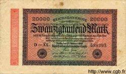 20000 Mark ALLEMAGNE  1923 P.085c TB