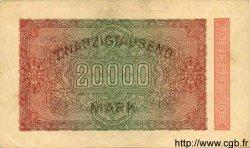 20000 Mark ALLEMAGNE  1923 P.085c TTB