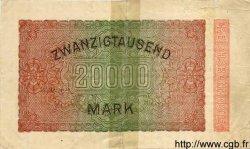 20000 Mark ALLEMAGNE  1923 P.085e B