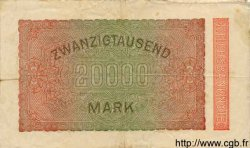 20000 Mark ALLEMAGNE  1923 P.085f TB à TTB