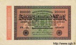 20000 Mark ALLEMAGNE  1923 P.085f pr.SUP