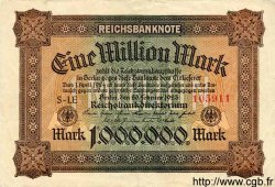 1 Million Mark ALLEMAGNE  1923 P.086a TTB