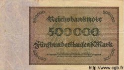 500000 Mark ALLEMAGNE  1923 P.088b TB