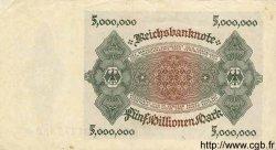 5 Millionen Mark ALLEMAGNE  1923 P.090 SPL