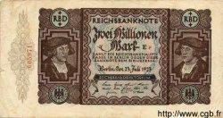 2 Millionen Mark ALLEMAGNE  1923 P.089a TB