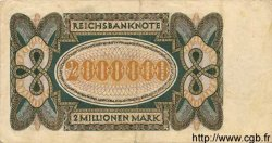2 Millionen Mark ALLEMAGNE  1923 P.089a