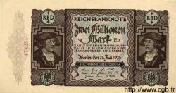 2 Millionen Mark ALLEMAGNE  1923 P.089a pr.NEUF