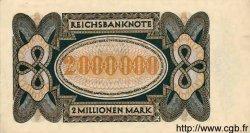 2 Millionen Mark ALLEMAGNE  1923 P.089a SPL