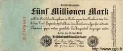 5 Millionen Mark ALLEMAGNE  1923 P.095 TB