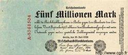5 Millionen Mark ALLEMAGNE  1923 P.095 TTB