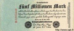 5 Millionen Mark ALLEMAGNE  1923 P.095 TTB+