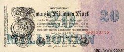 20 Millionen Mark ALLEMAGNE  1923 P.097a TTB