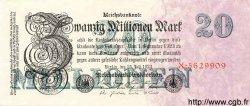20 Millionen Mark ALLEMAGNE  1923 P.097a NEUF