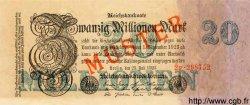 20 Millionen Mark ALLEMAGNE  1923 P.097bs SPL