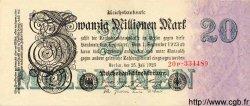 20 Millionen Mark ALLEMAGNE  1923 P.097b SUP