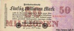 50 Millionen Mark ALLEMAGNE  1923 P.109 TTB à SUP