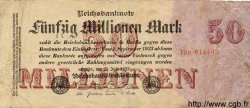 50 Millionen Mark ALLEMAGNE  1923 P.109 B