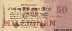 50 Millionen Mark ALLEMAGNE  1923 P.109 TTB