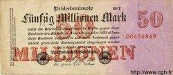 50 Millionen Mark ALLEMAGNE  1923 P.109 pr.TTB