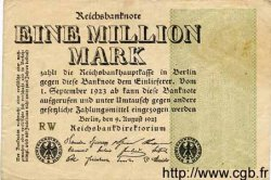1 Million Mark ALLEMAGNE  1923 P.102a B+