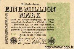 1 Million Mark ALLEMAGNE  1923 P.102a SUP