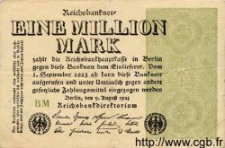 1 Million Mark ALLEMAGNE  1923 P.102c TB