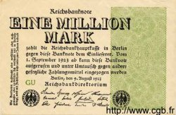 1 Million Mark ALLEMAGNE  1923 P.102c TTB+
