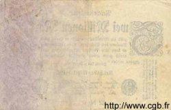 2 Millionen Mark ALLEMAGNE  1923 P.103 TB+