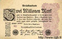 2 Millionen Mark ALLEMAGNE  1923 P.104b TTB